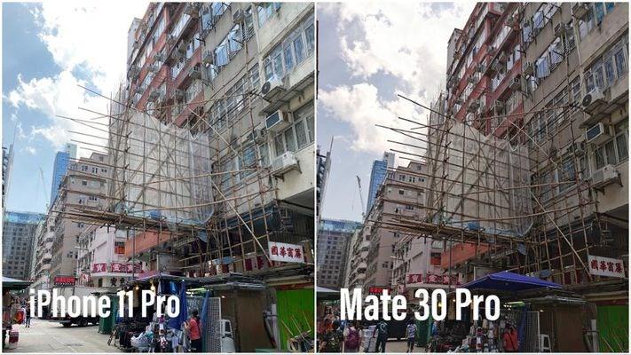 iPhone 11 Pro、华为Mate30 Pro、三星Galaxy Fold、一加7T拍照对比
