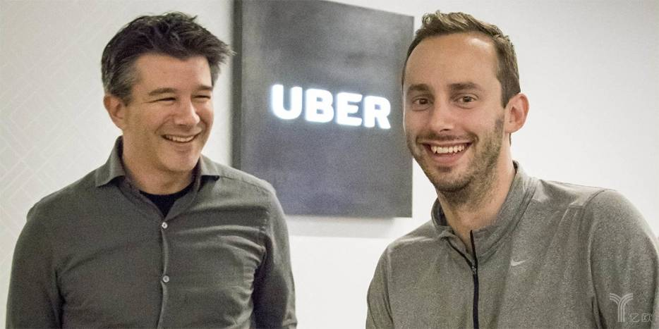 莱万与Uber创始人特拉维斯·卡兰尼克(Travis Kalanick)