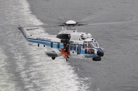 日本海岸警卫队将新增两架H225型直升机来用于沿海活动